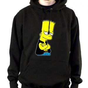 Изображение Толстовка мужская черная Барт Симпсон в жилетке