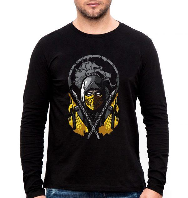 Изображение Лонгслив мужской черный Mortal Kombat Scorpion Арт