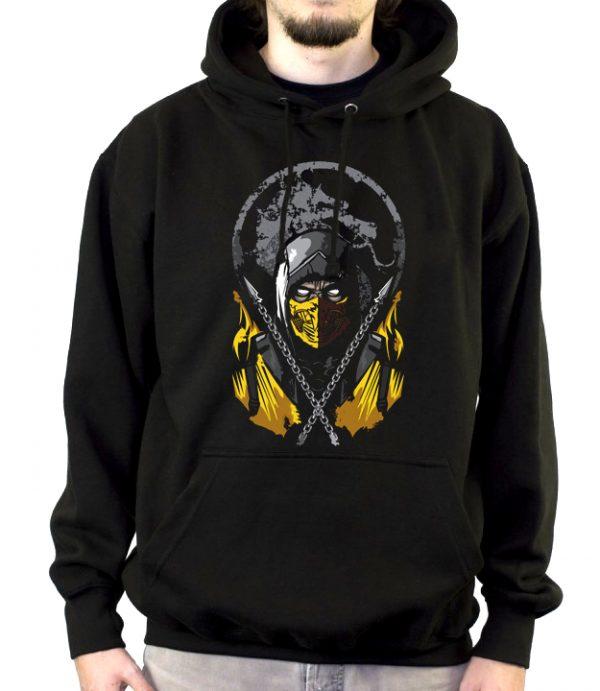 Изображение Толстовка мужская черная Mortal Kombat Scorpion Арт