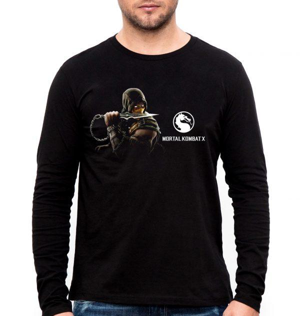 Изображение Лонгслив мужской черный Mortal Kombat 10 Scorpion