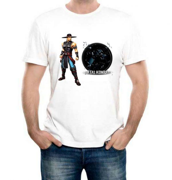 Изображение Футболка мужская белая Mortal Kombat Kung Lao