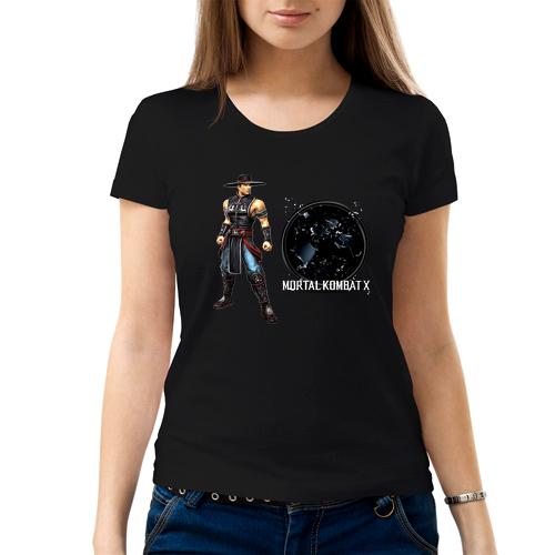 Изображение Футболка женская черная Mortal Kombat Kung Lao
