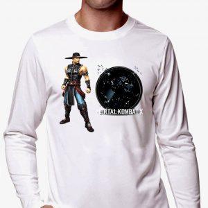 Изображение Лонгслив мужской белый Mortal Kombat Kung Lao