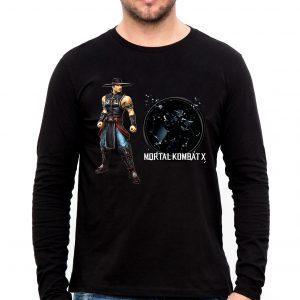 Изображение Лонгслив мужской черный Mortal Kombat Kung Lao