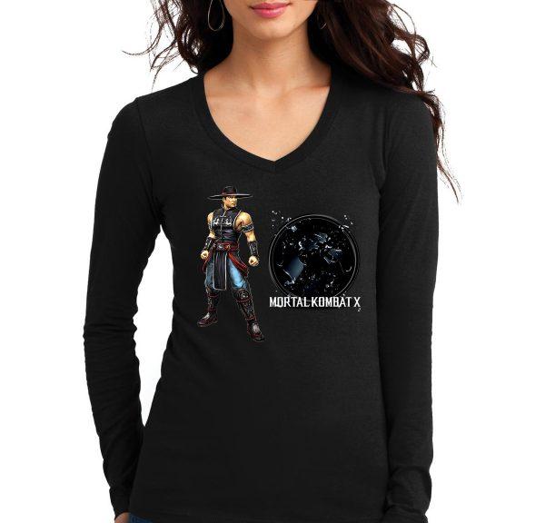 Изображение Лонгслив  женский черный Mortal Kombat Kung Lao