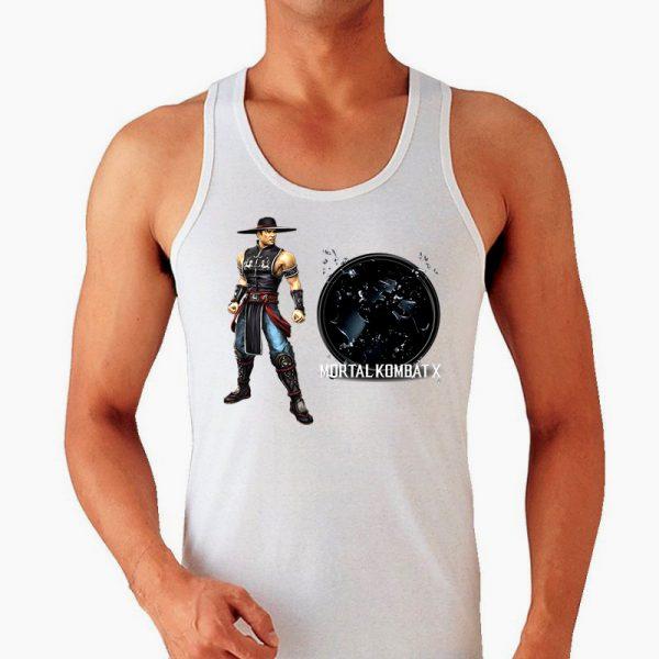 Изображение Майка мужская белая Mortal Kombat Kung Lao