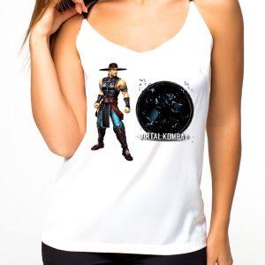 Изображение Майка женская белая Mortal Kombat Kung Lao