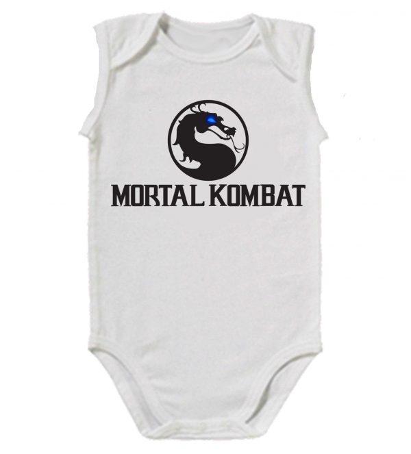 Изображение Детское боди белое Mortal Kombat Черное Лого