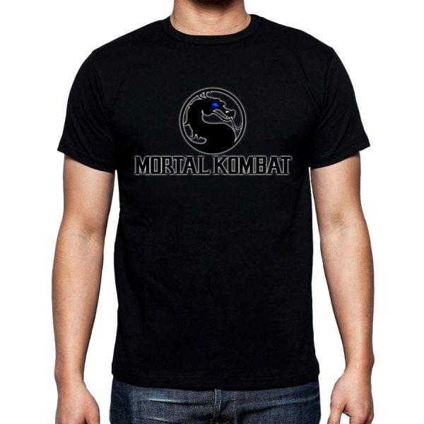 Изображение Футболка мужская черная Mortal Kombat Лого