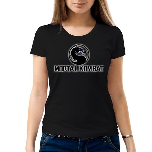 Изображение Футболка женская черная Mortal Kombat Лого