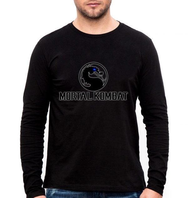 Изображение Лонгслив мужской черный Mortal Kombat Лого