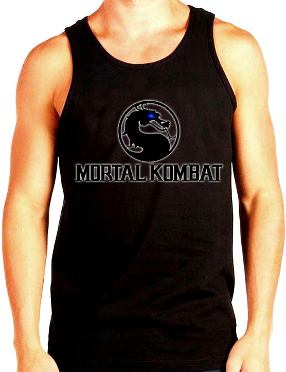 Изображение Майка мужская черная Mortal Kombat Лого