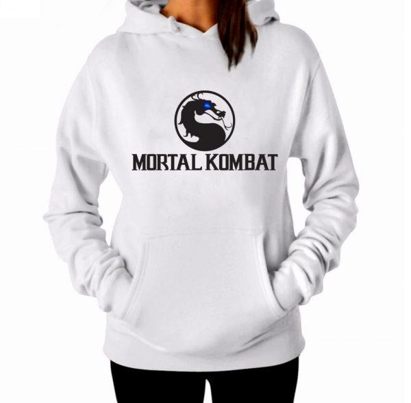 Изображение Толстовка худи женская Mortal Kombat Черное Лого