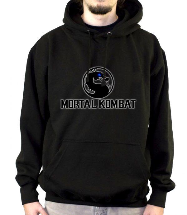 Изображение Толстовка мужская черная Mortal Kombat Лого