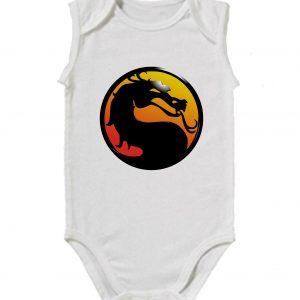 Изображение Детское боди белое Mortal Kombat Лого