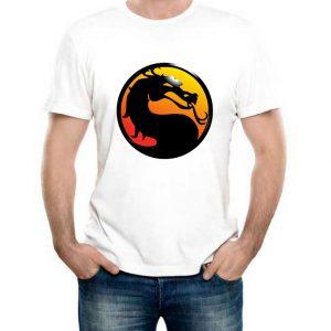 Изображение Футболка мужская белая Mortal Kombat Лого