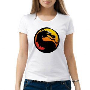 Изображение Футболка женская белая Mortal Kombat Лого