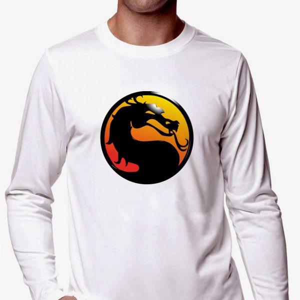 Изображение Лонгслив мужской белый Mortal Kombat Лого