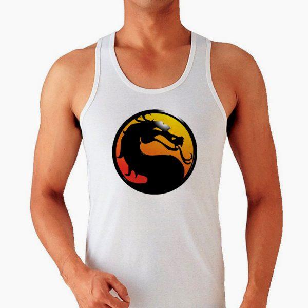 Изображение Майка мужская белая Mortal Kombat Лого