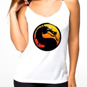 Изображение Майка женская белая Mortal Kombat Лого