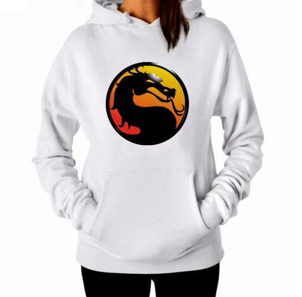 Изображение Толстовка худи женская Mortal Kombat Лого