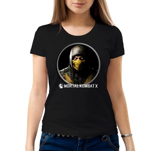 Изображение Футболка женская черная Mortal Kombat Scorpion