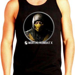 Изображение Майка мужская черная Mortal Kombat Scorpion