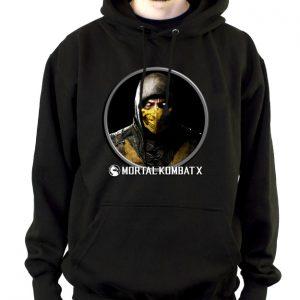 Изображение Толстовка мужская черная Mortal Kombat Scorpion